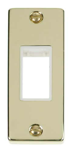 Click Deco Polished Brass 1 Gang Architrave Plate VPBR471WH