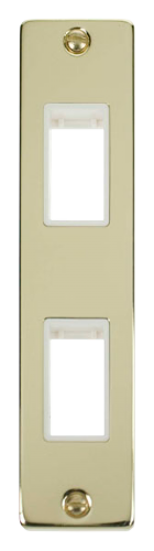 Click Deco Polished Brass 2 Gang Architrave Plate VPBR472WH