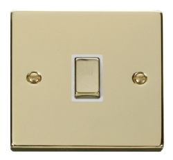 Click Deco Polished Brass 20A Double Pole Switch VPBR722WH