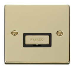 Click Deco Polished Brass Unswitched Fused Spur VPBR750BK