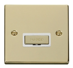 Click Deco Polished Brass Unswitched Fused Spur VPBR750WH