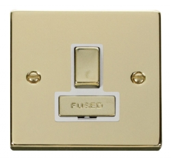 Click Deco Polished Brass Switched Fused Spur VPBR751WH