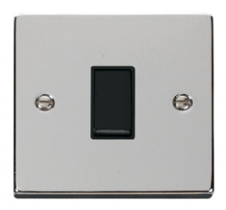 Click Deco Polished Chrome 1 Gang 2 Way Switch VPCH011BK