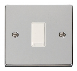 Click Deco Polished Chrome 1 Gang 2 Way Switch VPCH011WH
