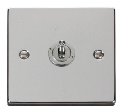 Click Deco Polished Chrome 1 Gang 2 Way Toggle Switch VPCH421