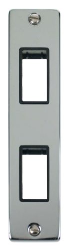 Click Deco Polished Chrome 2 Gang Architrave Plate VPCH472BK
