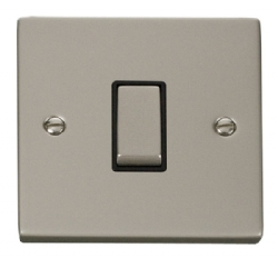 Click Deco Pearl Nickel 1 Gang 2 Way Switch VPPN411BK