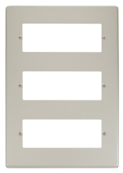 Click Deco Pearl Nickel 18 Way Mini-Grid Plate VPPN518