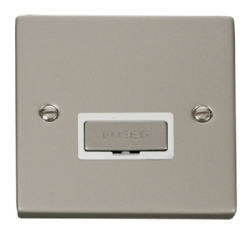 Click Deco Pearl Nickel Unswitched Fused Spur VPPN750WH