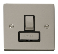 Click Deco Pearl Nickel Switched Fused Spur VPPN751BK