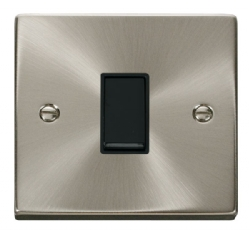 Click Deco Satin Chrome 1 Gang 2 Way Switch VPSC011BK