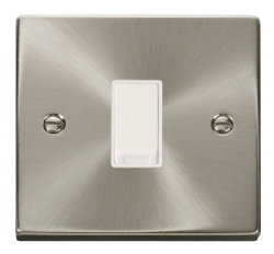 Click Deco Satin Chrome 1 Gang 2 Way Switch VPSC011WH