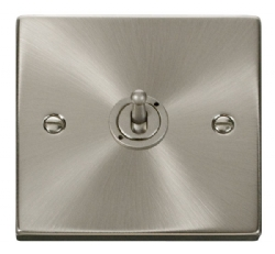 Click Deco Satin Chrome 1 Gang 2 Way Toggle Switch VPSC421