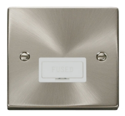 Click Deco Satin Chrome Unswitched Fused Spur VPSC650WH