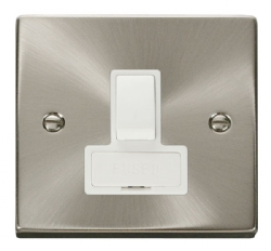 Click Deco Satin Chrome Switched Fused Spur VPSC651WH