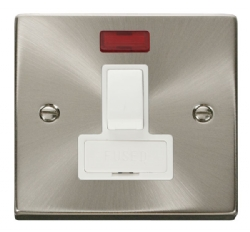 Click Deco Satin Chrome Switched Fused Spur with Neon VPSC652WH