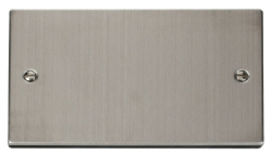Click Deco Stainless Steel 2 Gang Blank Plate VPSS061