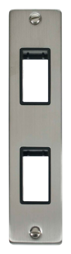 Click Deco Stainless Steel 2 Gang Architrave Plate VPSS472BK