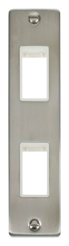 Click Deco Stainless Steel 2 Gang Architrave Plate VPSS472WH
