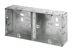 Click WA099 1+1 35mm Deep Dual Galvanised Knock-out Box