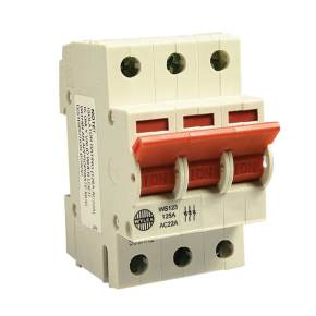 Wylex WS123 Triple Pole 125A Switch Disconnector