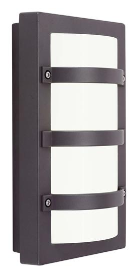 Ansell Quad LED Black Wall Light 4000K Cool White 12W AQULED