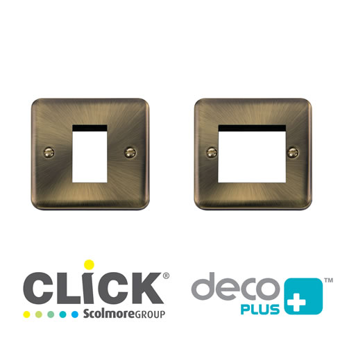 Deco Plus Ant/Brass New Media