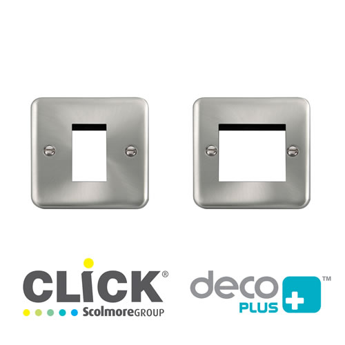Deco Plus Satin Chrome New Media