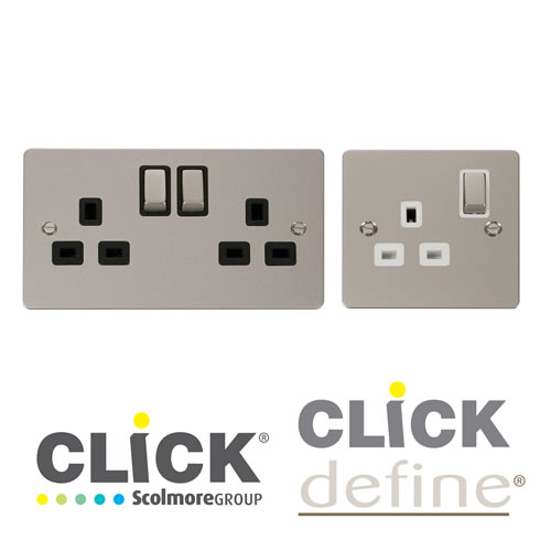 Pearl Nickel Socket Outlets