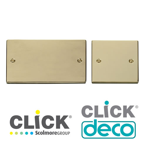 Deco Polished Brass Blank Plates