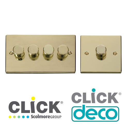 Deco Polished Brass Dimmers