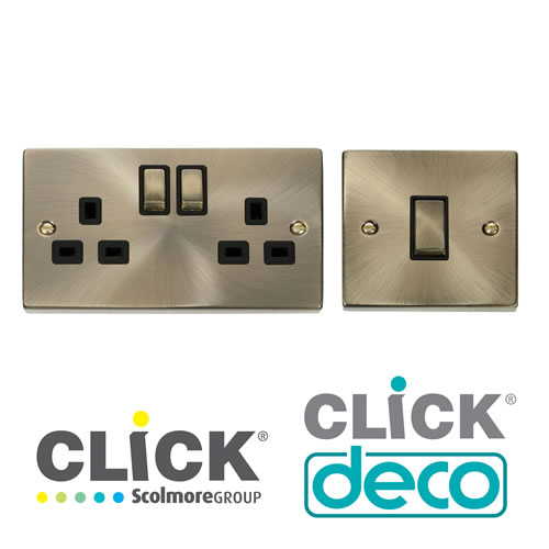 Click Deco Antique Brass Finish