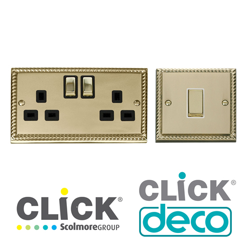Click Deco Georgian Brass Finish