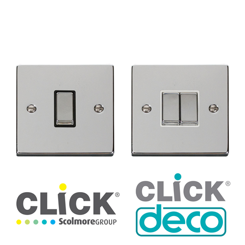 Deco Polished Chrome Switches
