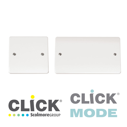 Click Mode White Blank Plates
