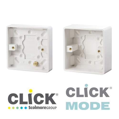 Click Mode White Surface Boxes