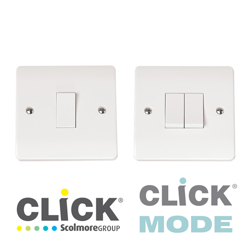 Click Mode White Plate Switches