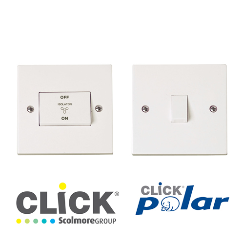 Click Polar White DP Switches