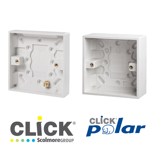 Click Polar White Surface Boxes