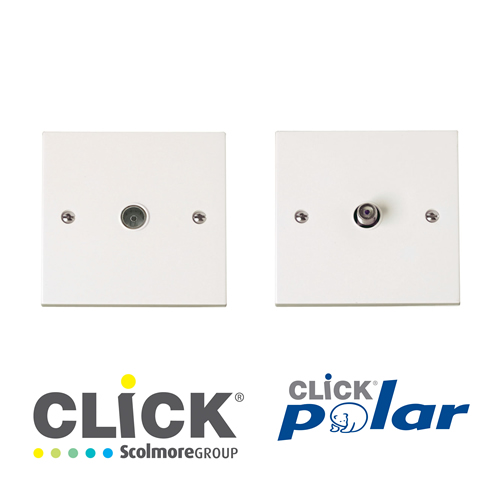 Click Polar White TV, Data, Tel