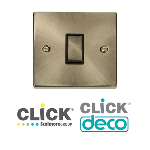 Deco Antique Brass Switches