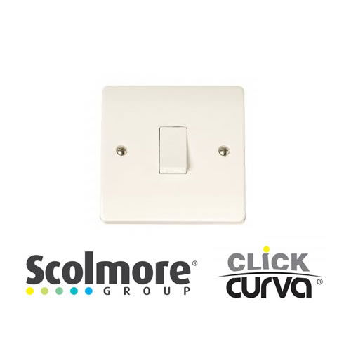 Click Curva White Plate Switches