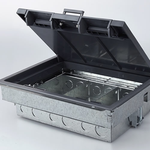 3 Compartment Compact Floor Box