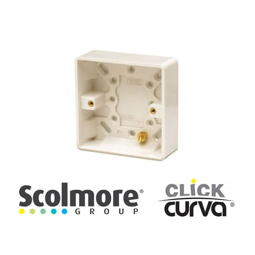 Click Curva White Surface Boxes