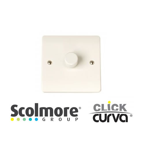 Click Curva White Dimmers