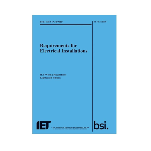IET 18th Edition Blue Regulations Book