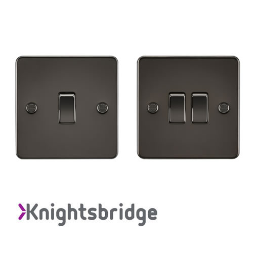 Gunmetal Plate Switches
