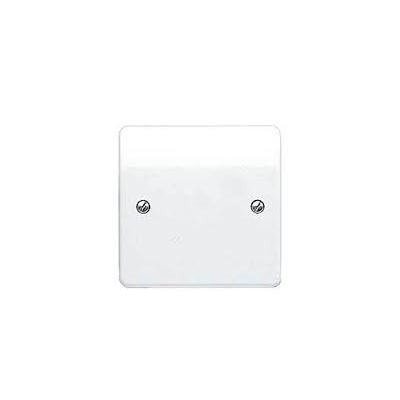 MK Logic Plus K3827WHI 1 Gang Moulded Blank Plate