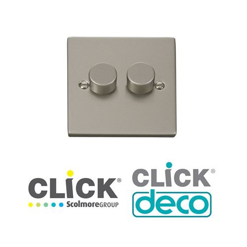 Deco Pearl Nickel Dimmers
