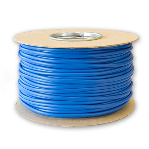 3mm Blue PVC Sleeving 100M Drum